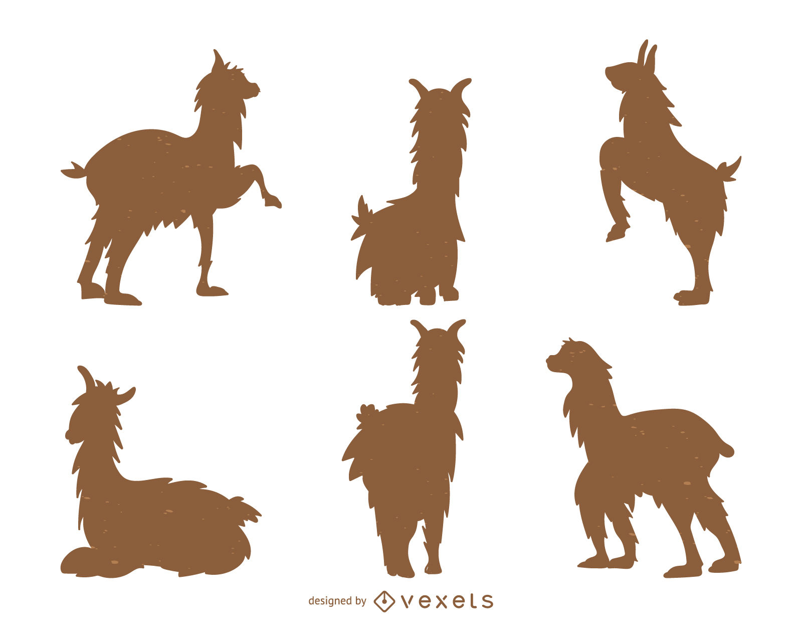 1600x1266 Llama Silhouette Collection