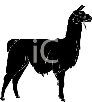 317x350 Picture Of A Silhouette Of A Llama In A Vector Clip Art