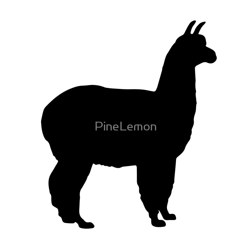 799x800 Alpaca Llama Silhouette Black Animal Canvas Prints By Pinelemon