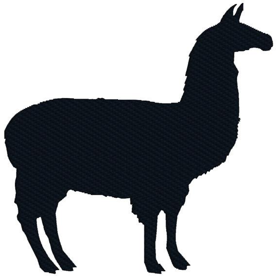 570x570 Buy 2 Get 1 Free Llama Silhouette Barnyard Animal Machine