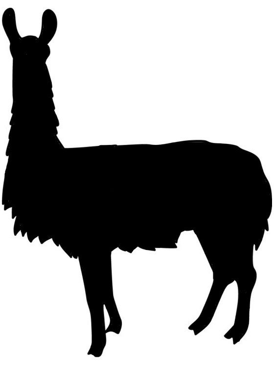 560x750 Image Result For Simple Llama Silhouette Silhouettes