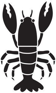 181x300 Lobster Silhouette Clipart