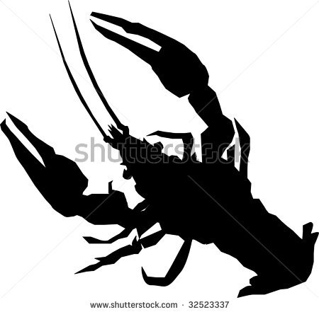 450x441 Lobster Silhouette