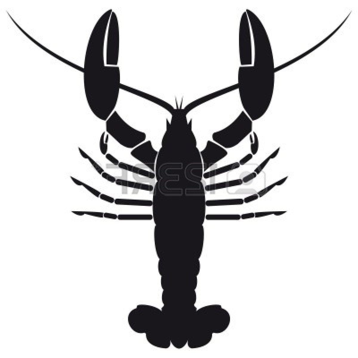 1200x1200 Unique Lobster Silhouette Cdr