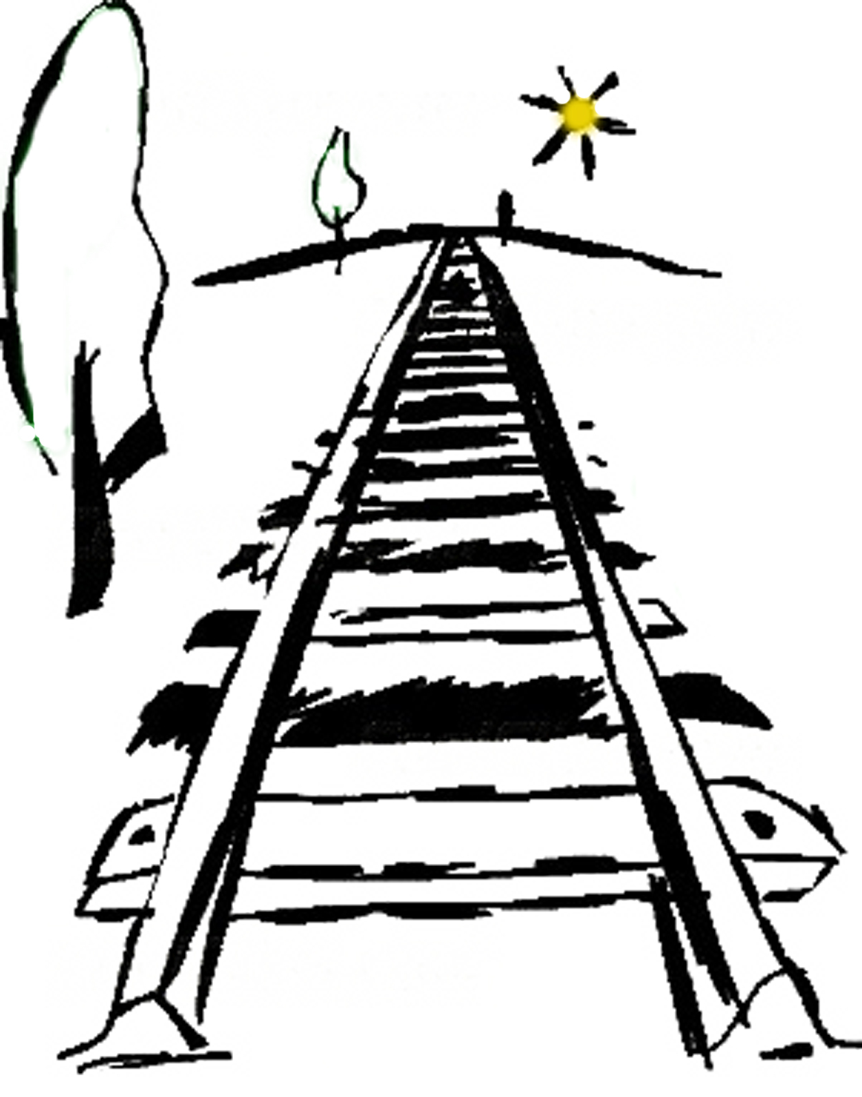 1254x1596 Train Tracks Clipart Under Desk Cabinet