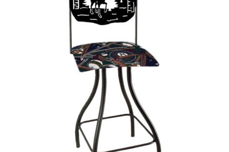780x520 Bar Stools Lodge Theme Moose Silhouette Swivel Bar Stool, Moose