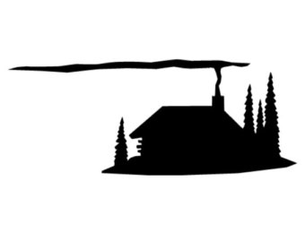 340x270 Cabin Silhouette Welcome Patterns