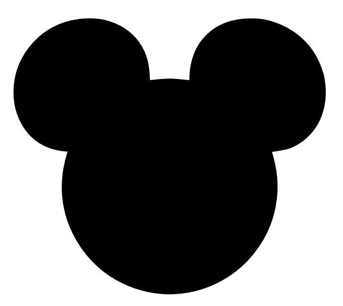 690x616 Free Download Mickey Silhouette Clipart For Your Creation