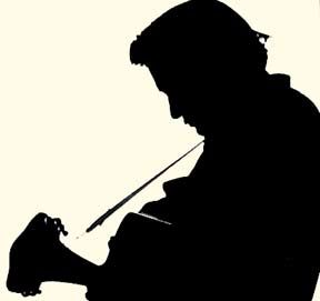 288x271 Johnny Cash In Silhouette Stenciling Johnny Cash