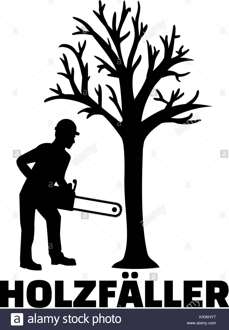 968x1390 Lumberjack German Job Title With Silhouette Stock Photo 171437259