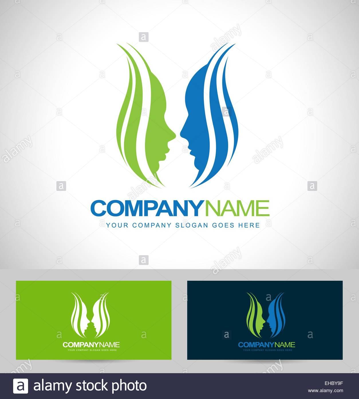1254x1390 Flower Faces Logo Design. Faces Logo Vector. Creative Face