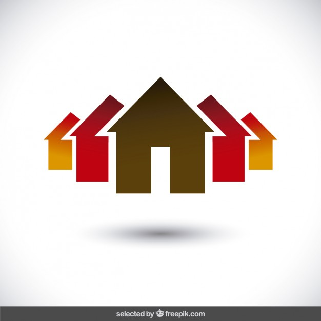 626x626 Property Logo With House Silhouettes Vector Free Download