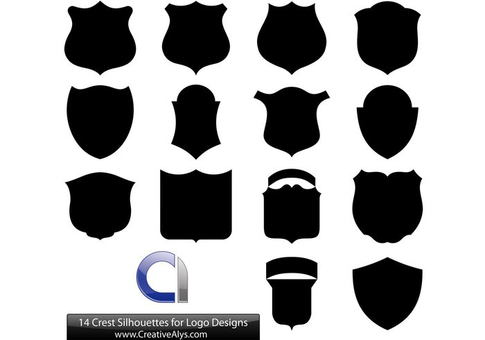 700x490 14 Crest Silhouettes For Logo Designs 129665