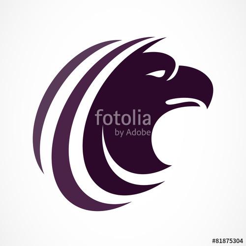 500x500 Vector Logo Design Template. Bird Head Silhouette Icon. Business