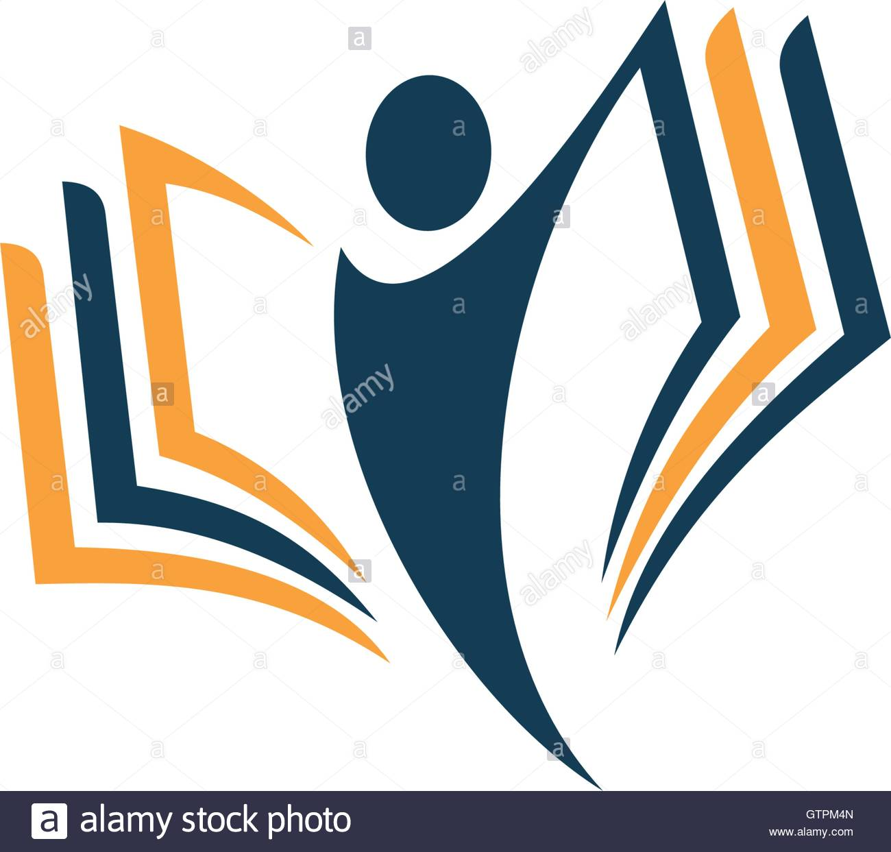 1300x1243 Isolated Abstract Human Silhouette With Book Vector Logo. School