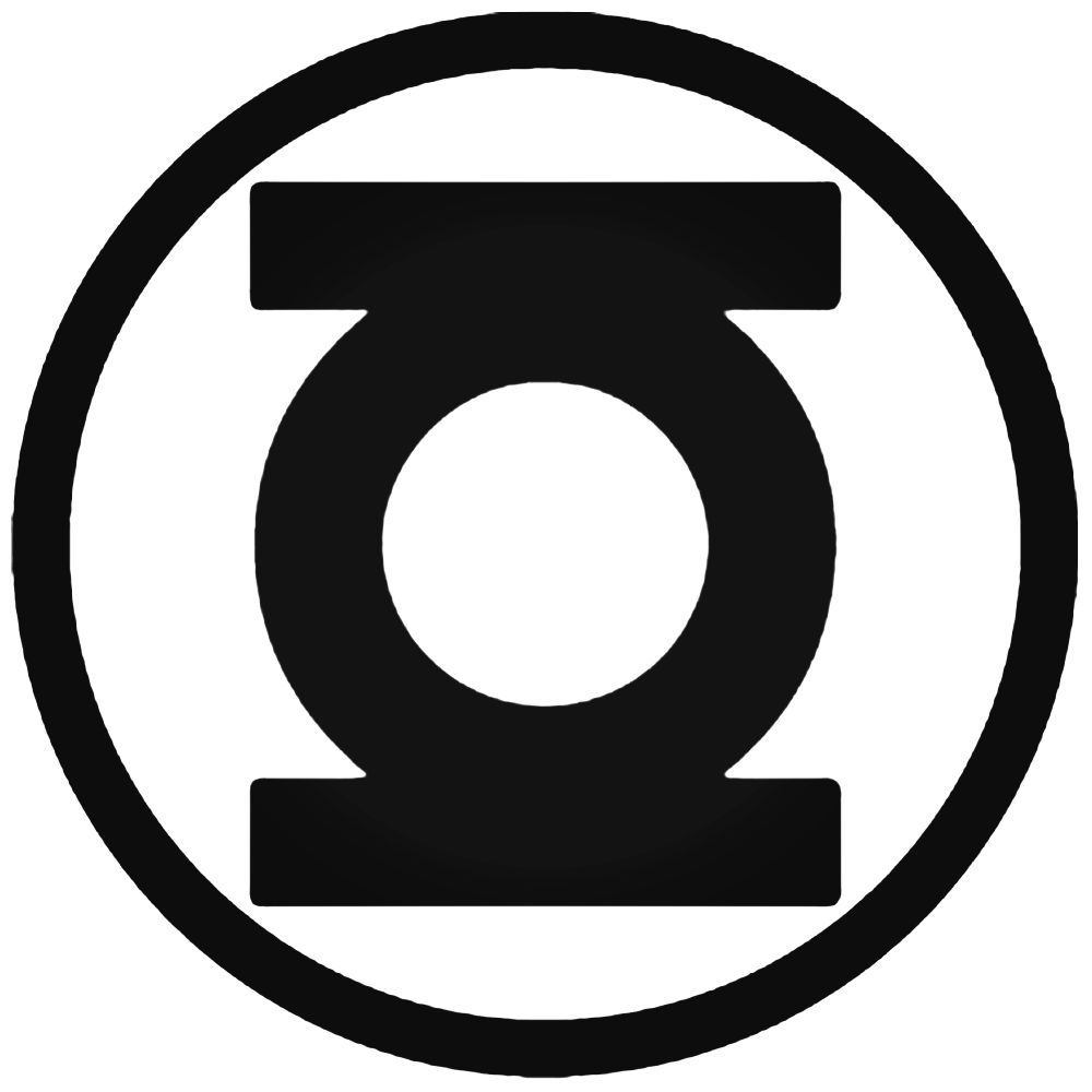 1000x1000 Lantern Logo Green Lantern Silhouette Decal