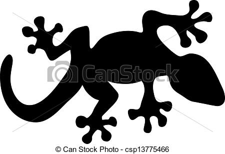 450x308 Vector Illustration Of A Black Lizard Silhouette Clip Art Vector