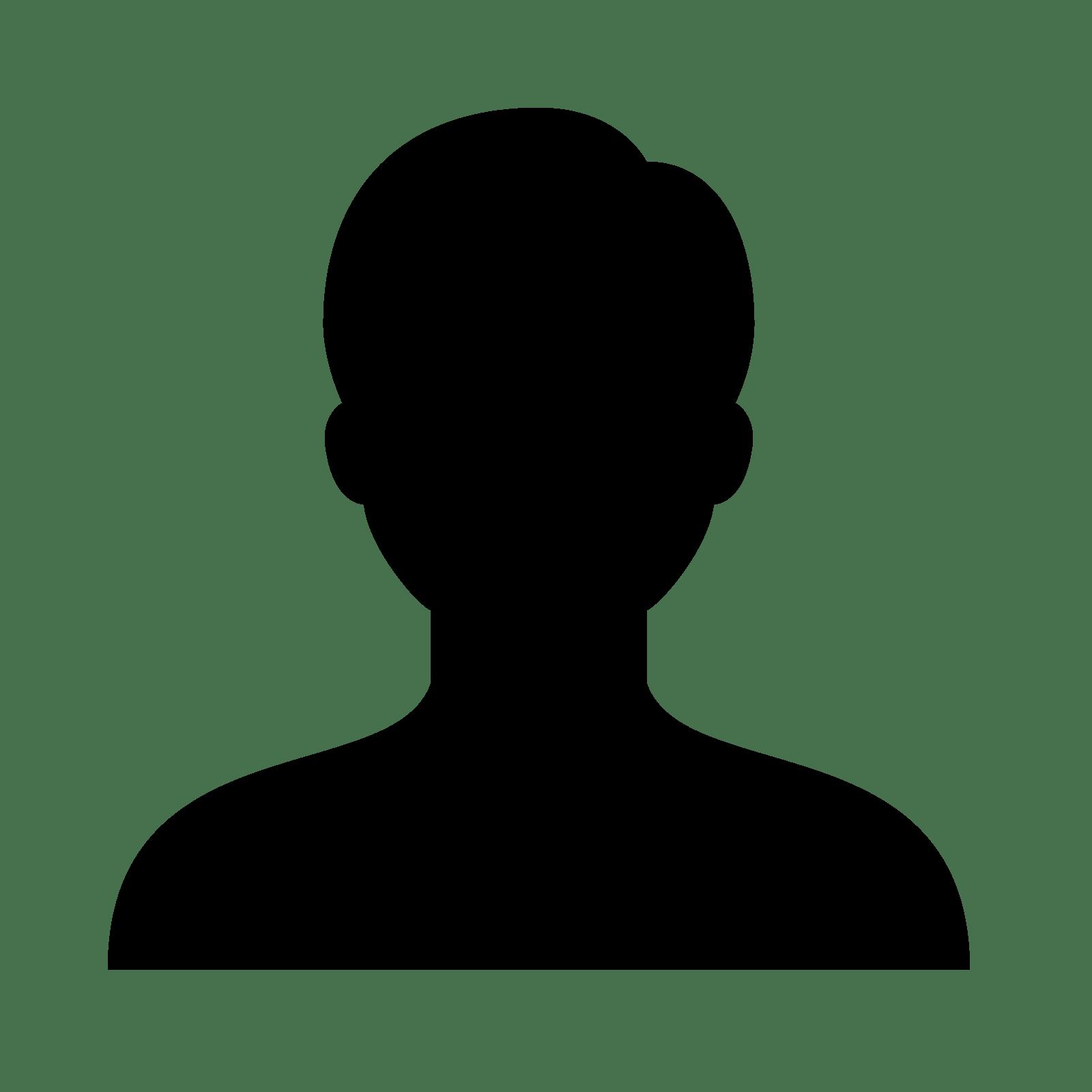 1600x1600 Male Head Silhouette Logo