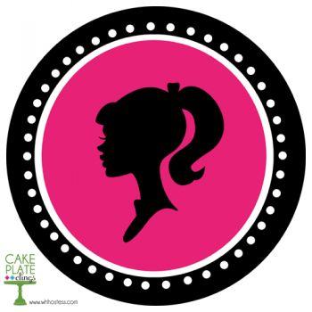 350x350 Barbie Clipart Head Silhouette