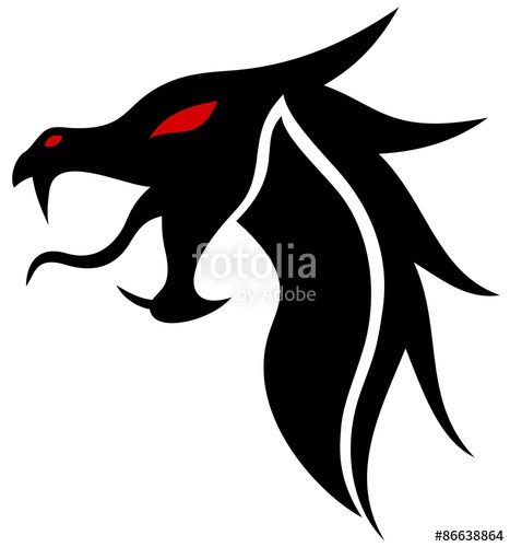 467x500 Dragon Head Silhouette Stock Image And Royalty Free Vector Files