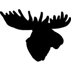 236x236 Big Moose Head Silhouette Vinyl Wall Art Sticker Verybig Eco