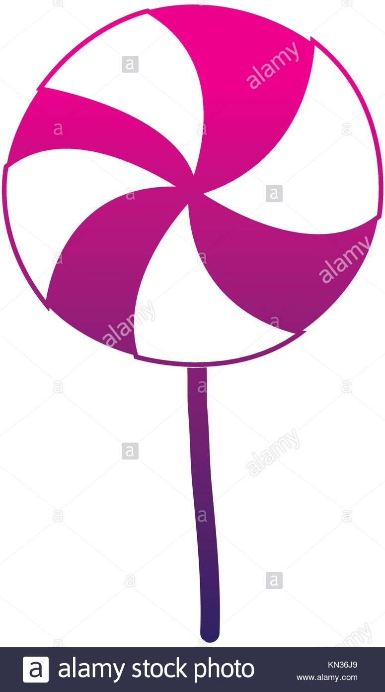 775x1390 Silhouette Delicious Spiral Lollipop Candy Caramel Stock Vector