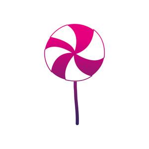 300x300 Silhouette Delicious Spiral Lollipop Candy Caramel Vector