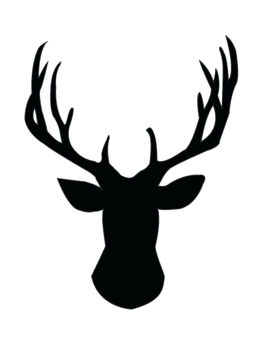 863x1117 Template Reindeer Template Head Gold Foil Deer Silhouette