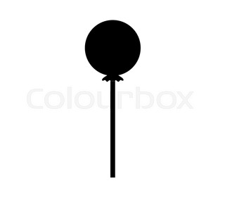 320x280 Hand Drawn Silhouette Of Lollipop. Candy Shop Logo Template
