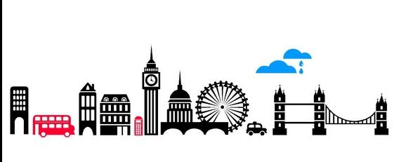 561x231 London Skyline Wall Sticker City Silhouette Building