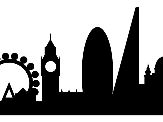 570x427 London Skyline Silhouette Printable UK