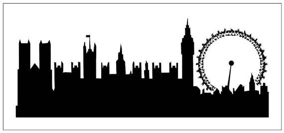 570x267 Cake04 Reusable Laser Cut Mylar Stencil London Skyline Cake Sides