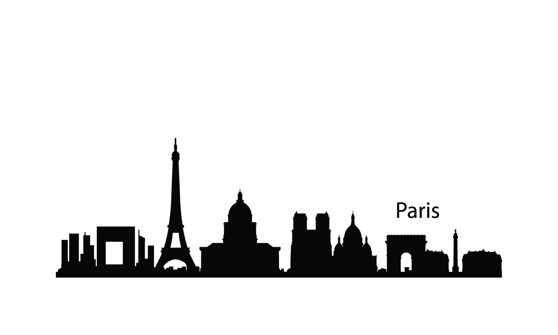 1500x900 London City Skyline Silhouette Paris 1500900