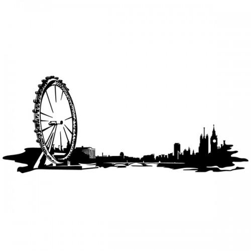 500x500 London Eye Skyline Wall Sticker Free Worldwide Shipping