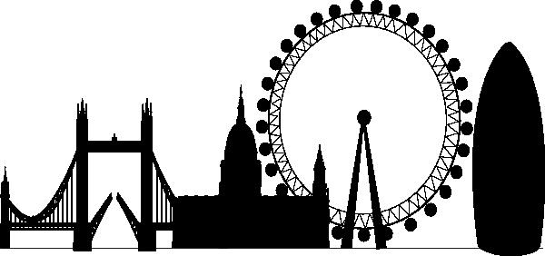 600x282 London Skyline Clipart Clip Art