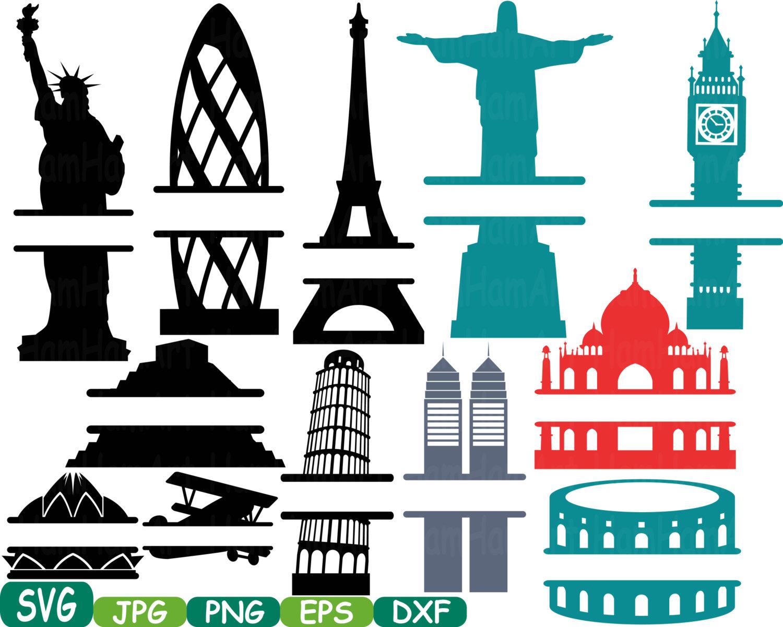 1500x1201 World Buildings Landmarks Split Svg Silhouette Travel City Cutting