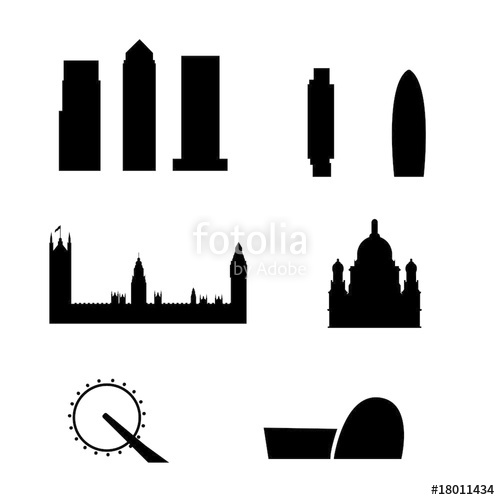 500x500 Brussels City Skyline Vector Stock Image And Royalty Free Vector