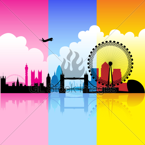 500x500 Colorful City Of London Gl Stock Images