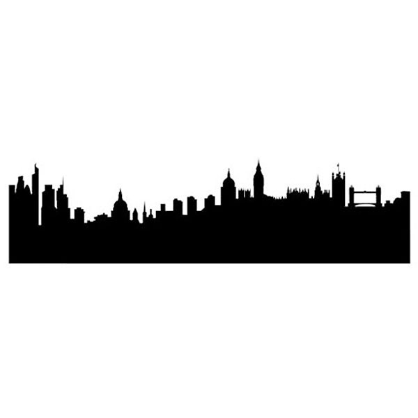 600x600 London Skyline Wall Sticker