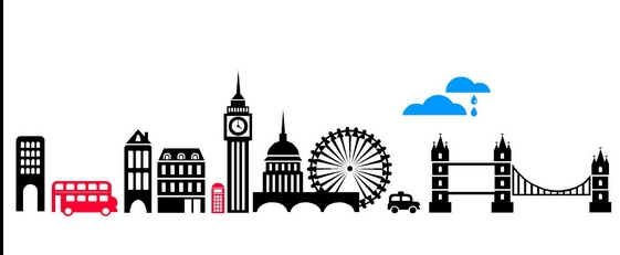 561x231 London Skyline Wall Sticker City Skyline Silhouette Building Wall