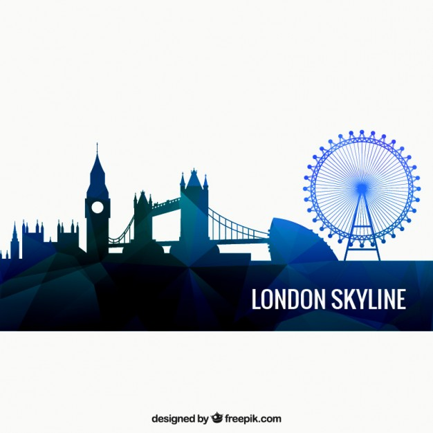 626x626 London Skyline Vector Free Download