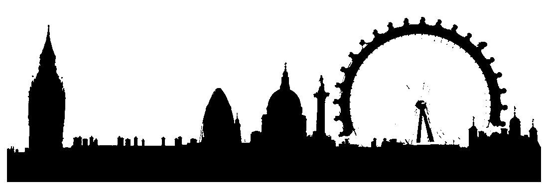 1096x380 London Skyline Silhouette Bedroom London Skyline