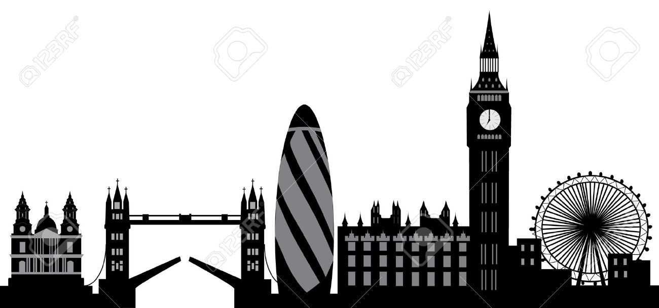 1300x609 London Skyline Stock Illustrations, Cliparts And Royalty Free