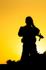 156x235 Soldier Silhouette Stock Photos