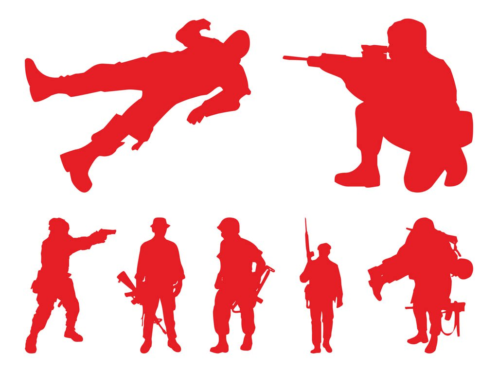1024x765 Soldiers Silhouettes Graphics Vector Art Amp Graphics