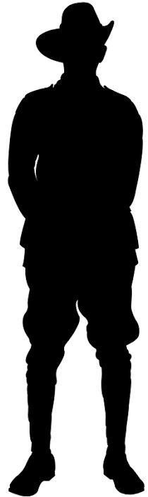 210x701 British Soldier Silhouette