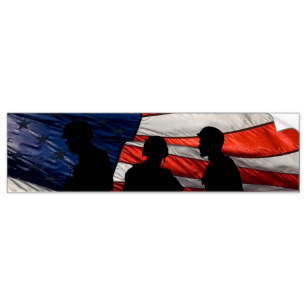 307x307 Flag With Soldier Silhouette Gifts On Zazzle