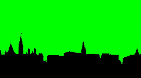 480x268 Long Pan Of A Skyline Silhouette Of The Capital City Of Ottawa