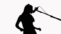 240x135 Girl Silhouette Long Hair Stock Footage Videos Pond5