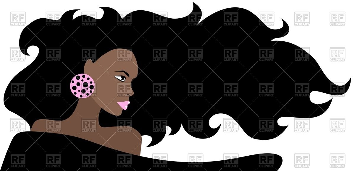 1200x579 Portrait Of Black Beautiful Woman With Long Hair Royalty Free
